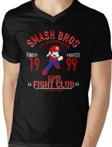 Mushroom Kingdome Fighter Mens V-Neck T-Shirt