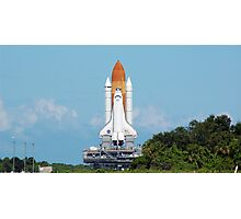 Shuttle Atlantis on the slow roll to the launch pad. Photographic Print