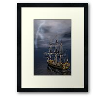 Heading Into The Storm Framed Print