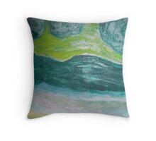 Green Rolling Hills Throw Pillow