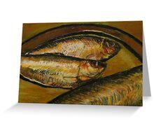 Fish Tempra Greeting Card