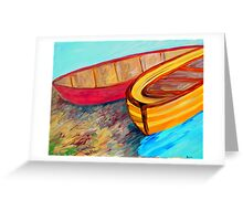 Boats in Waiting Greeting Card