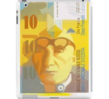10 Swiss Francs note bill- front side iPad Case/Skin