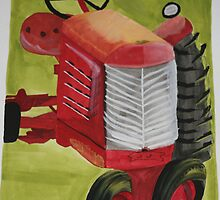 A sun-touched tractor by Julieanne