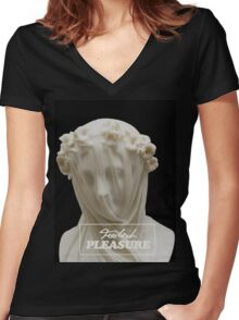 Foolish Pleasure (Hail Mary Edition) Women's Fitted V-Neck T-Shirt