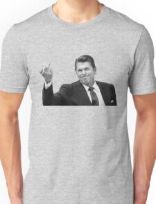 Ronald Reagan Flipping The Bird  T-Shirt