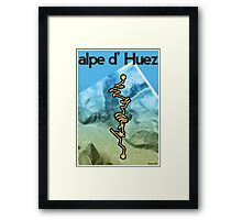 Cycling Poster of Alpe d Huez Framed Print