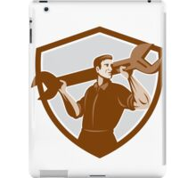 Mechanic Lifting Spanner Wrench Shield Retro iPad Case/Skin