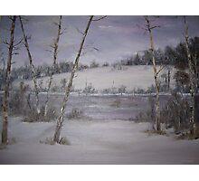 Snowy Pond Photographic Print