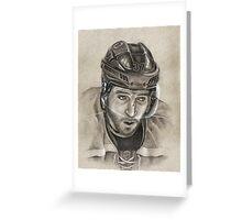 Patrice Bergeron - Boston Bruins Hockey Portrait Greeting Card