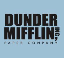 Dunder Mifflin Paper Company Logo Kids Clothes