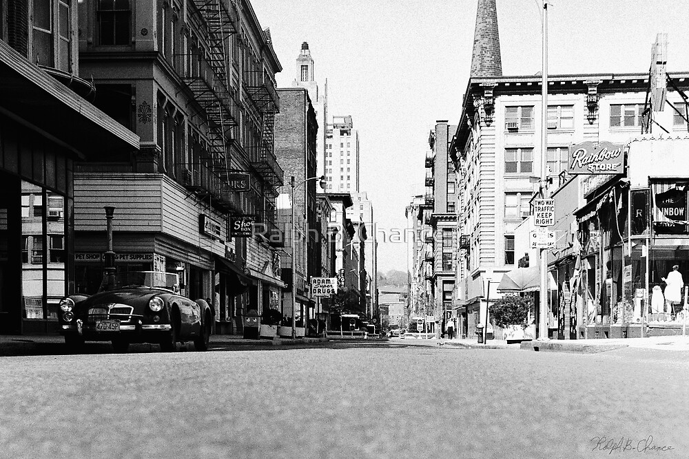 Downtown Providence 1972 by Ralph B. Chance