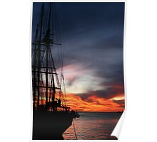 Tall Leeuwin Sunset Poster