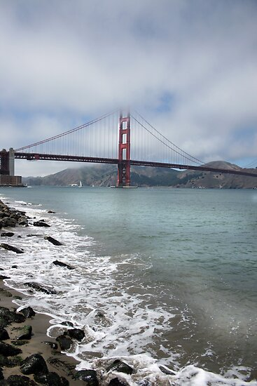 Golden Gate Bridge (Portrait) by Kimberly Palmer