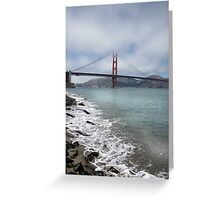 Golden Gate Bridge (Portrait) Greeting Card