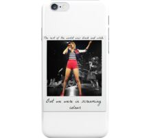 Taylor lives in screaming colour iPhone Case/Skin