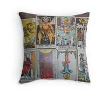 Bad Tarot Throw Pillow
