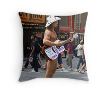 The Naked Cowboy, New York Throw Pillow