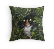 Lucy In the Bushes Throw Pillow