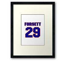 National football player Justin Forsett jersey 29 Framed Print
