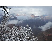 Snow Clouds in Canyon Photographic Print