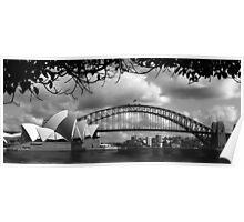 Two Icons - Sydney Harbour Bridge Poster