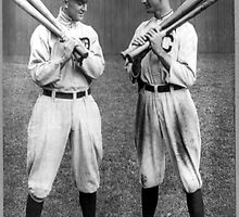 Ty Cobb and Joe Jackson baseball by Old-Time-Images