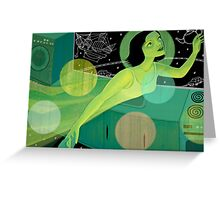 we are floating in space Greeting Card