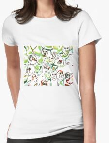 Meanwhile Womens Fitted T-Shirt