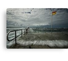 High Tide at Merewether Baths Canvas Print