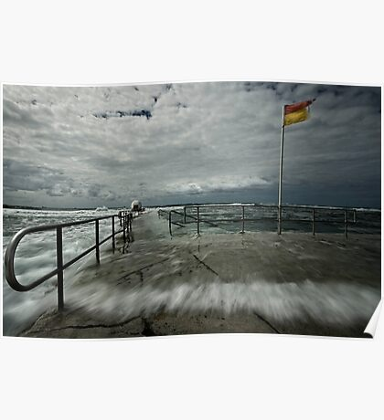 High Tide at Merewether Baths Poster