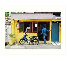 Jakarta Shopfront Scene Art Print