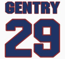 National football player Dennis Gentry jersey 29 by imsport