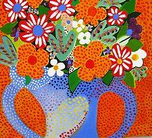 VASE OF SPRING FLOWERS by Redlady