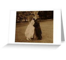 kissing cousins Greeting Card