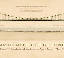 Hammersmith Bridge London England by Justin Fagence