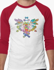 Peanut's Psychedelic Party Time Men's Baseball ¾ T-Shirt