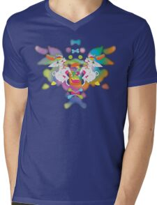 Peanut's Psychedelic Party Time Mens V-Neck T-Shirt
