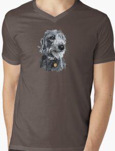 Cute stylized scruffy pup Mens V-Neck T-Shirt