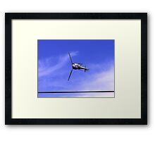 can helicopters really do this Framed Print