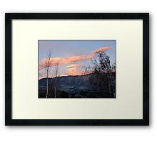 Painted Clouds - Sunrise Wanaka - NZ Framed Print