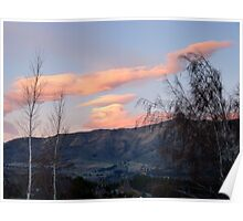 Painted Clouds - Sunrise Wanaka - NZ Poster