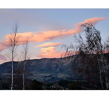 Painted Clouds - Sunrise Wanaka - NZ Photographic Print