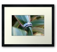 Forever United In Heart & Soul - Wedding Rings - NZ Framed Print