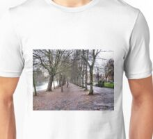 EMPTY TREES AND AN EMPTY EMBANKMENT. Unisex T-Shirt