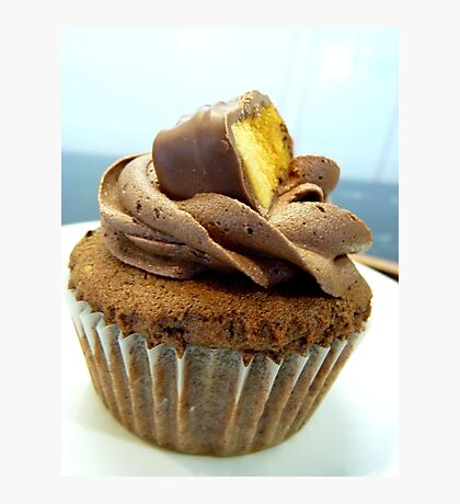 Crunchy Choc Delight - Cupcake - NZ   Photographic Print