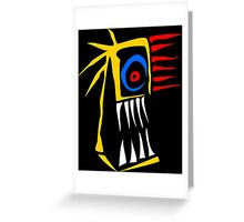 Infernal face Greeting Card