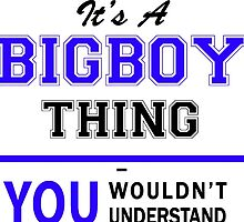 It's a BIGBOY thing, you wouldn't understand !! by yourname