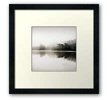 Misty dawn in Glen Affric, Scotland Framed Print