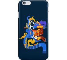 Human head emerging from a snake mouth  iPhone Case/Skin